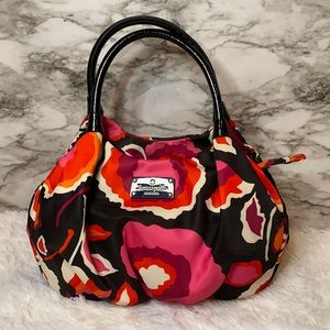 Kate Spade floral satchel bag.